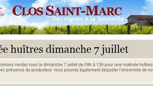 CLOS SAINT MARC / Dégustation d'huitres 07.07.2019