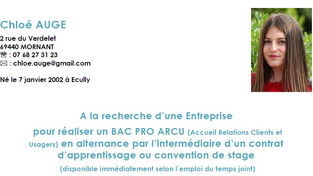 Candidature contrat d'apprentissage ou stage