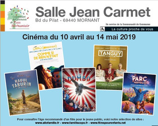 Nouveau programme cinéma - Salle JEAN CARMET