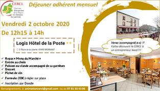 Déjeuner adhérent Octobre 2020