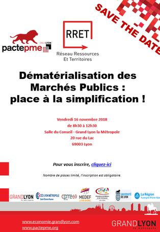 """Conférence sur le thème """"Dématérialisation des Marchés Publics : place à la simplification !&qu"""