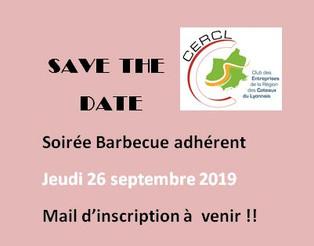 SAVETHEDATE / Soirée BARBECUE 26.09.2019