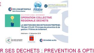 """CCI -Webinaire """"Bien gérer ses déchets: Prévention & optimisation"""""""