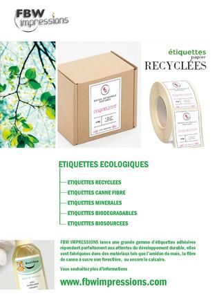 Etiquettes en papier recyclé: La démarche de Fabrice Farget, FBW Impressions