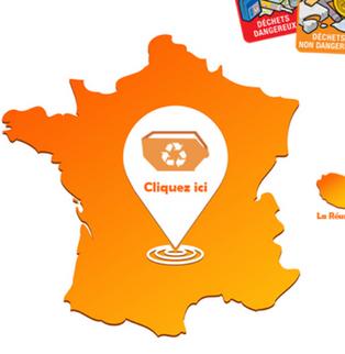 Didier Daval, Gecape Sud, utilise une application mobile pour localiser les points de collecte....