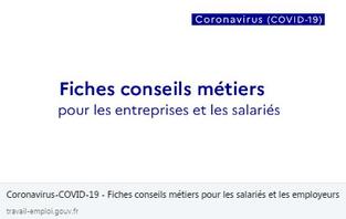 CERCL / Fiches conseils métiers pour les entreprises et les salariés - Coronavirus COVID 19