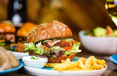Crispy Chicken Burger mit Vollcornbun im