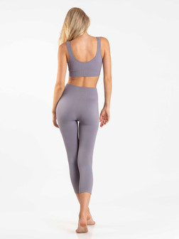 Recycled Seamless Ribbed Set Scoop Bra + Leggings Set