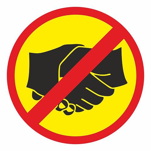 Kättely kielletty tarra