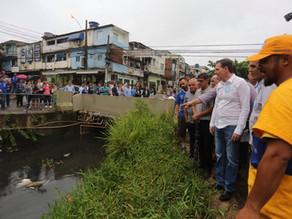 Crivella determina obras de dragagem de canal e urbanização do Terreirão