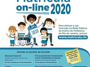 Matrículas escolares Online 2020