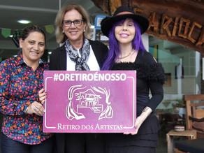 Retiro dos Artistas recebe visita da primeira-dama da cidade e da cantora Baby do Brasil