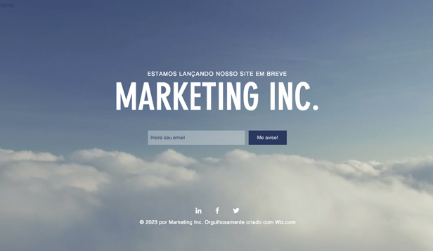 Landing Pages website templates – Lançamento de Marketing