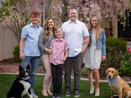 Utah Family Photographer | Spring Photography | Family with pups