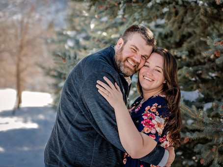Utah Wedding Photographer | Hobble Creek Canyon | Winter Engagements