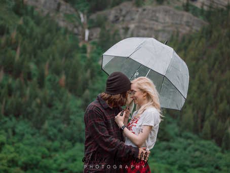 Utah Wedding Photographer | Provo Engagements | Bridal Veil Falls