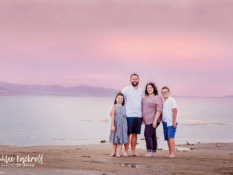 Utah Family Photographer {Utah Lake Sunset Session}