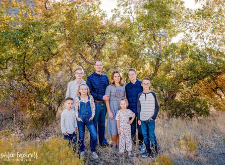 Utah Family Photographer - Fall colors {J Family}