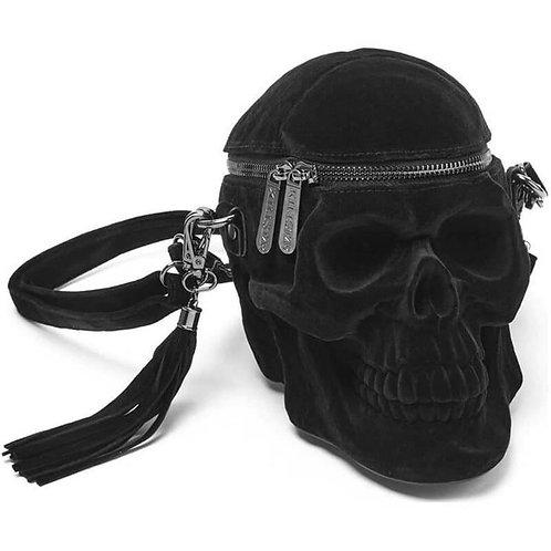 Killstar Schädel Handtasche - Grave Digger Skull Samt