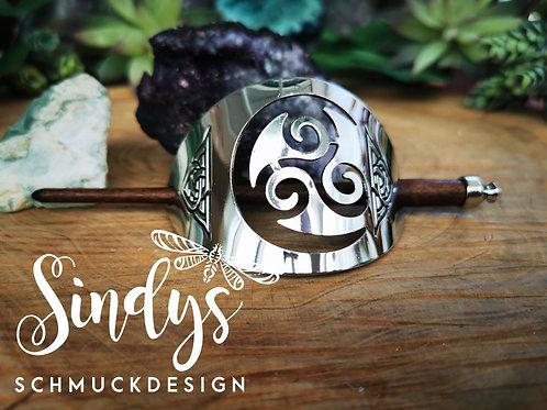 Haarspange mit Keltischen Teichen