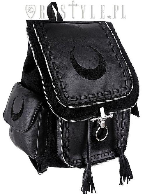 Rucksack mit Halbmond schwarz