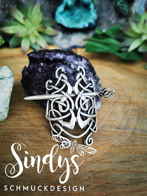 Keltische Haarspange in Silbern