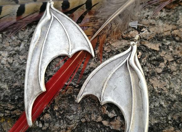 Fledermaus Ohrringe in Silberfarben