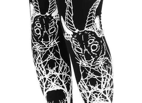Leggings  Katzen, Gothic-Stil L