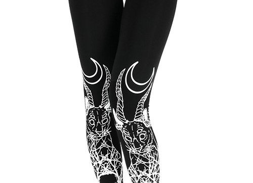 Leggings  Katzen, Gothic-Stil XL