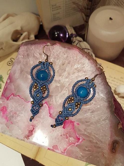 Achat Ohrringe in Blau