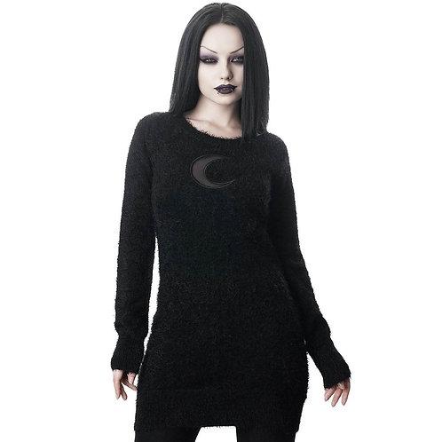Gothic Pullover mit Halbmond von Killstar 4XL