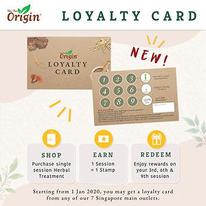 BEE CHOO ORIGIN LOYALTY CARD