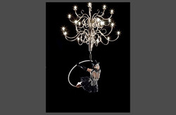 chandelier black