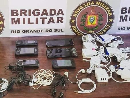 Brigada Militar localiza celulares na área externa do Presídio Regional de Santo Ângelo