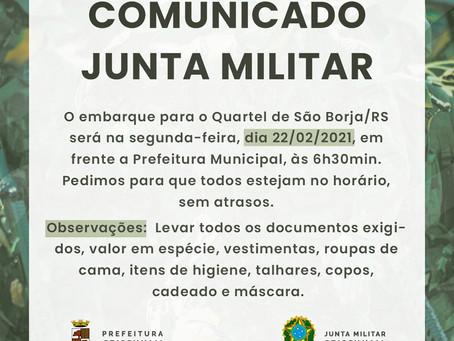 Comunicado Junta Militar
