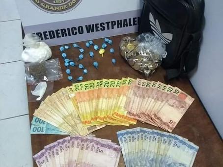 BPM prende casal por tráfico de Drogas em Frederico Westphalen