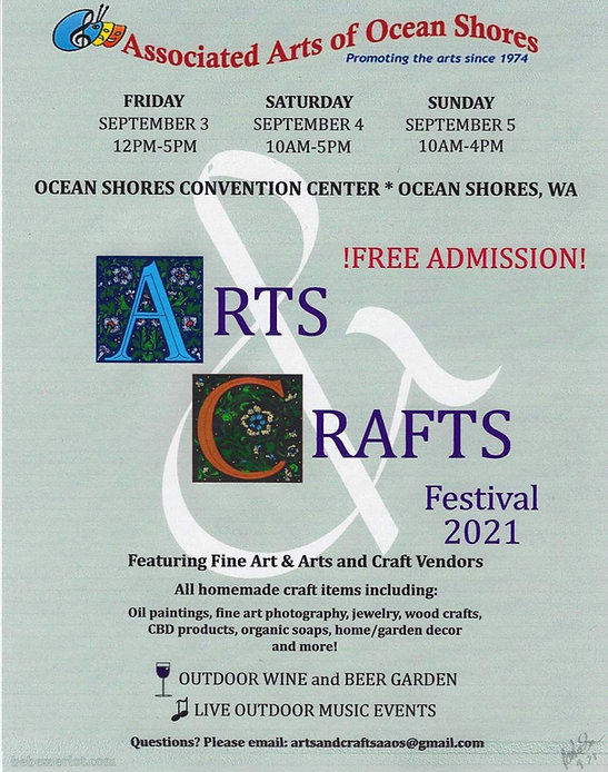 Arts and Crafts Festival 2021 poster