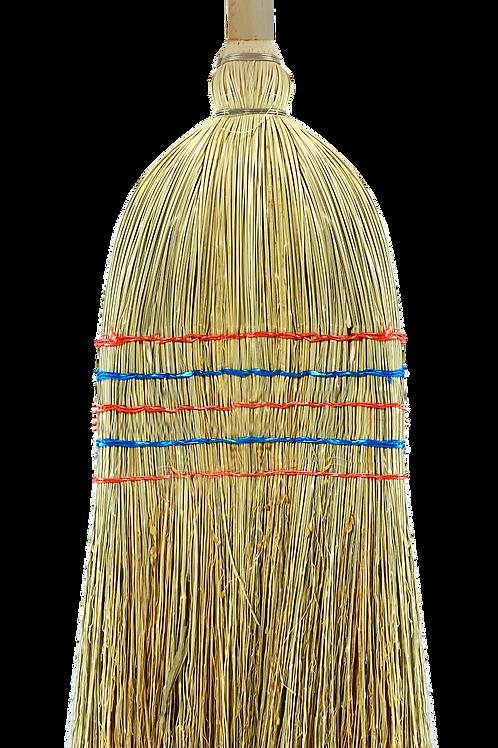 Sorghum broom front view
