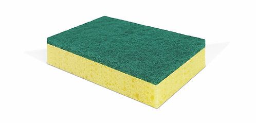 KITCHEN SPONGE WITH ABRASIVE