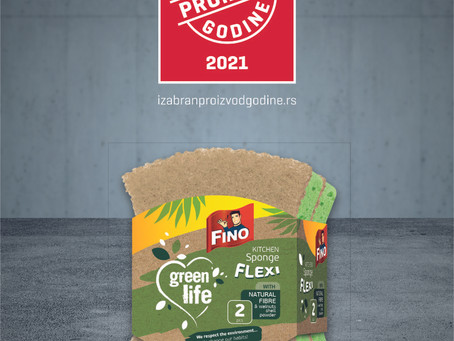 FINO kitchen sponge Flexi produced by Interclean won Voted Product of the Year award!