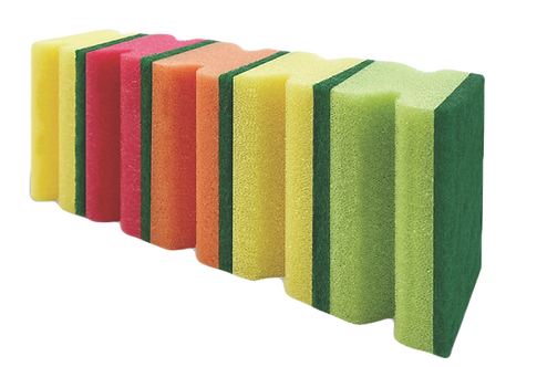 MULTICOLOR KITCEH SPONGE WITH NAILGUARD