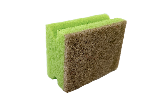 ECO FRIENDLY SPONGE WITH 100% RECYCLED ABRASIVE