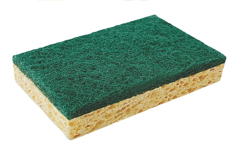 CELLULOSE SPONGE WITH ABRASIVE