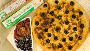 Garlic and Sun Dried Tomato Focaccia Bread
