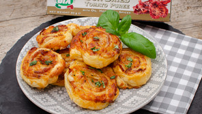 Sundried Tomato, Bacon and Mozzarella swirls