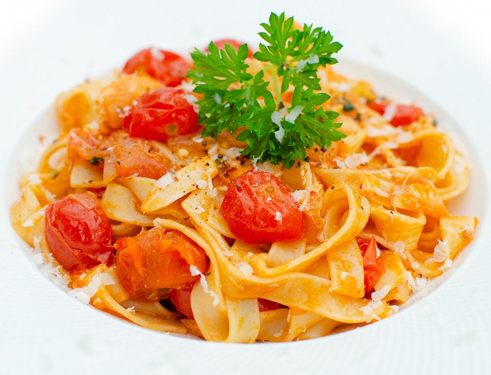 Crab Tagliatelle cherry tomato & Parmesan