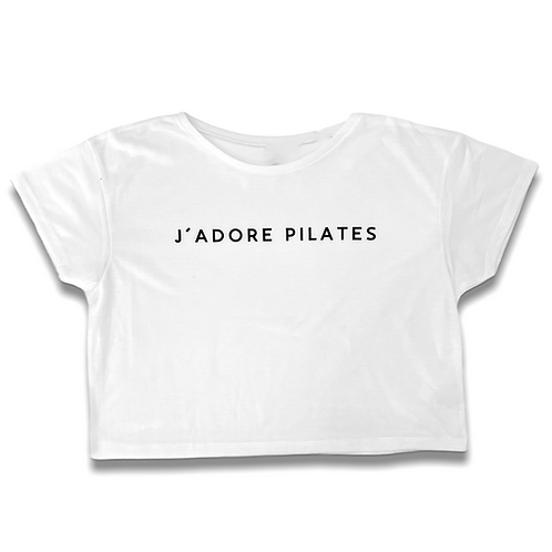 """J'adore Pilates"" Crop shirt"