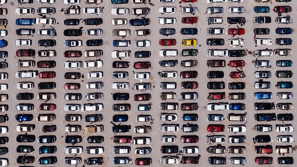 Lot filled with used cars