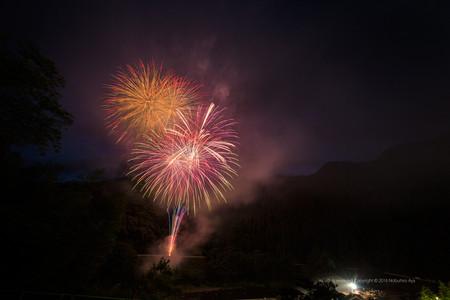 西米良村 やまびこ花火大会2016