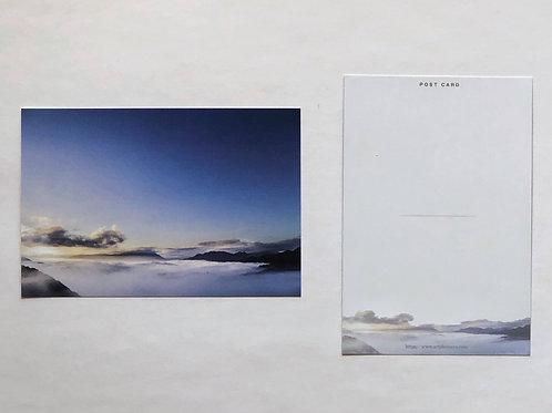 オリジナルポストカード(渡川の山々と雲海)